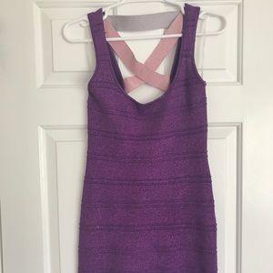 Purple and Pink Bandage Dress